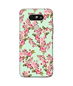 Be Awara Pink Blossoms With Leaves Designer Mobile Phone Case Back Cover For LG G5