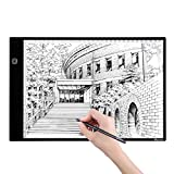 M.Way Tablette Lumineuse A4 LED Luminosité Réglable Super Mince Photo Dessin Tablette pour Tatouage Esquisse Architecture Calligraphie Artisanat