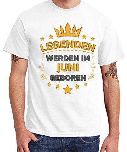 -- Legenden werden im Juni geboren -- Boys T-Shirt Weiß
