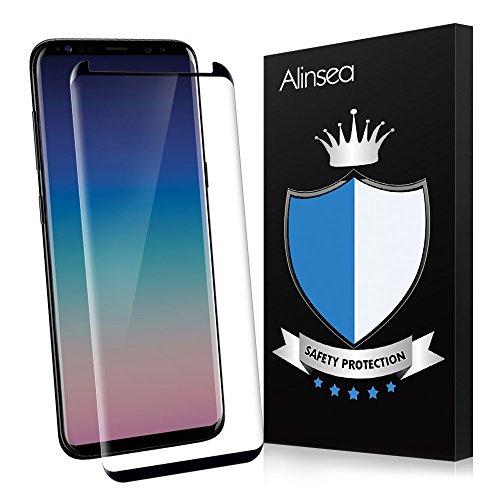 Verre trempé Galaxy S9 plus,Alinsea Protecteur Vitre – [Anti Rayures] [Sans Bulles D'air] [Ultra Résistant Dureté 9H] Glass Screen Protector pour Samsung S9+/Plus[1pcs]