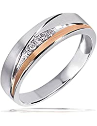 Goldmaid Damen-Ring Red Eye 925 Sterlingsilber 5 Zirkonia