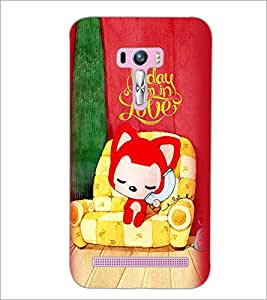 PrintDhaba Love D-5999 Back Case Cover for ASUS ZENFONE SELFIE ZD551KL (Multi-Coloured)