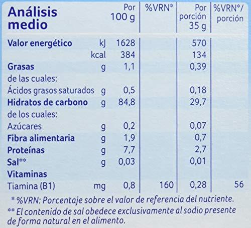 Alminatur Papilla de cereales sin Gluten a Partir de los 4 Meses - Paquete de 5 x 250 gr - Total: 1.25 kg