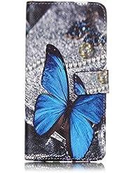 Samsung Galaxy Note 3caso, w-pigcase colorida funda de piel sintética con cierre magnético y soporte de tarjeta de ID/crédito integrado función atril Bookstyle Cartera Carcasa Piel portátil Slim–carcasa para Samsung Galaxy Note 7