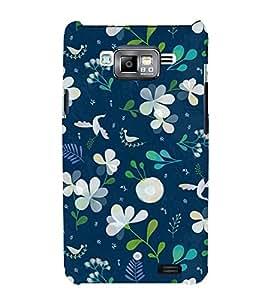 Fuson Designer Back Case Cover for Samsung Galaxy J2 (6) 2016 J210F :: Samsung Galaxy J2 Pro (2016) (Blue White Leaves Birds Small bird)