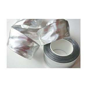 schleifenband 25m x 40mm silber mit draht silberband geschenkband dekoband k che. Black Bedroom Furniture Sets. Home Design Ideas