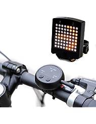 Vélo les signaux lumineux, lumineux 64LED Feu arrière de vélo Lumière étanche intelligent télécommande sans fil de vélo avertissement de sécurité lumière