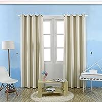twinkler Solid Color oscurante termico Tende Pieghettate, morbida e confortevole