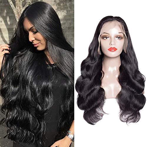 10A Full Lace Human Hair Wigs brasilianische Body Wave 180% Dichte Full Lace Wig Gluess Virgin Human Hair für Schwarze Frauen Pre gesteckt 26 Inch Full Lace Wig - Wave Full Lace Perücke