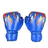 Zeesk Kid Boxhandschuhe, Kinder Junior Sparring MMA Kickboxing Trainingshandschuhe, Alter 3-15 Jahre (Blau)