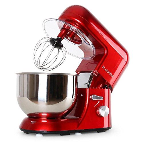 Klarsteinstein TK1 Bella Rossa • Robot da Cucina • Mixer • impastatrice • 1200 W • 1,6 PS • 5,2 L • Sistema serraggio rapido • Ganci a pressofusione • Braccio Multifunzionale • Rosso