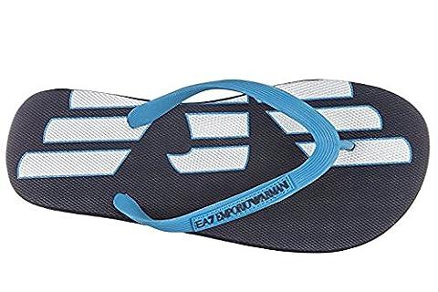 Emporio Armani EA7 Herren Gummi Flip Flops Zehentrenner Sandalen Sea World Eagle Navy Blue EU 42 905003 7P295 06935