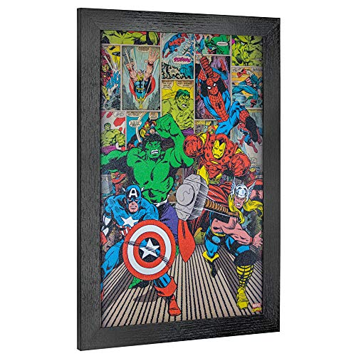 Crystal Art Lizenzprodukt Marvel Original Avengers Superhelden Comic-Buch-Druck, -