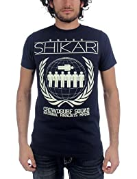 Enter Shikari - Mens Crowdsurf Squad T-Shirt in Navy