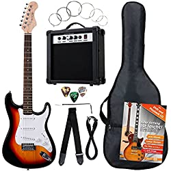 Rocktile Banger's Power Pack guitarra eléctrica Set, 7-piezas sunburst