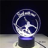 Luz de Color táctil Control Remoto Visual luz Nocturna atmósfera de Regalo lámpara de Mesa