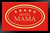 Fußmatte Schmutzfangmatte Hotel Mama rot 40x60 cm | 100928