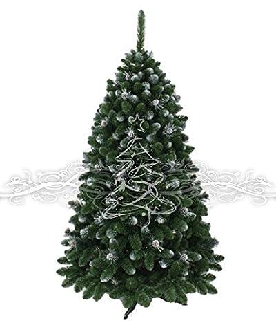 Künstlicher Weihanchtsbaum Kiefer Gold beschneit mit Zapfen 220