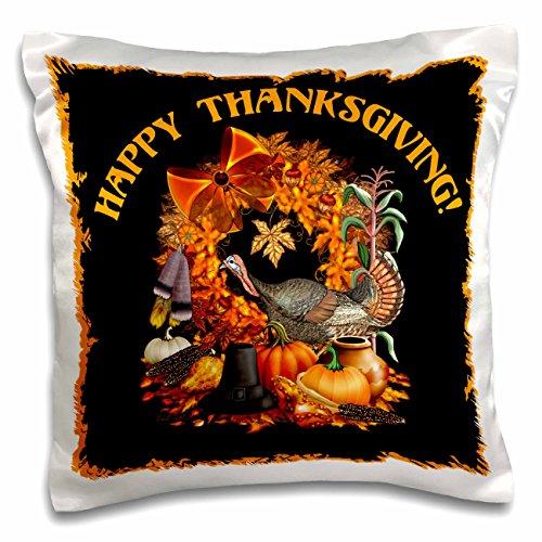 3dRose Thanksgiving mit Einem Wild Turkey, Native American und Pilgrim Themen, der Fall Harvest und mehr-Kissen Fall, 16von 16Zoll (PC 11684_ 1) (Wild Turkey-shirt)