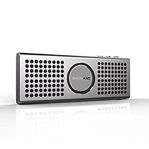 Sinoband S100 The World's Lightest and Slimmest Portable Bluetooth Speaker (21mm, 9.9 Ounces) Featuring Line-in Function TF Card, Hi-fi Stereo system, Bluetooth 4.0 technology. Powerful Battery Capacity Support 10hr Playtime.