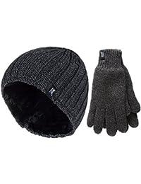 Touchscreen-Handschuhe Strickm/¨/¹tze Schal f/¨/¹r Geburtstage Neujahr/£/¨Schwarz/£/© Herren Winterm/¨/¹tze Skim/¨/¹tze mit Thinsulatef/¨/¹tterung extra warm Weihnachten