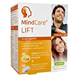 MindCare LIFT Stay Happy, Mood Support Supplement –  660mg Omega-3 EPA & DHA Wild Fish Oil, Magnesium Glycinate, 5-HTP & Multivitamins, 60 capsules