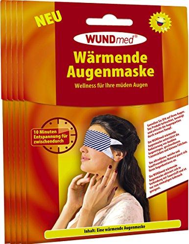 Wärmende Augenmaske | Augenpflege - Anti Falten, Tränensacke, Augenringe und Kopfschmerzen | Augenpflege | Hautfreundlich *Zertifiziert* | Für Männer und Frauen (5er Pack - Spare 10%)