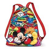 Karactermania Mickey Mouse Crayons-Strap Drawstring Bag Sac à Cordon, 41 cm, Rouge (Red)