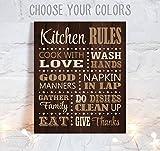 Die besten Freund-Zitat auf Leinwand - Kitchen Rules Art Wand Esszimmer Decor auf Leinw Bewertungen