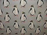 1m Pinguin Arktis Coastal Nautisches Thema Baumwolle