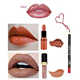 Leey 3Pcs / Set Lip Liner Lip Shaped Box Maquillage Étanche Matte Longue Durable Rouges à lèvres liquides Durée Waterproof Rouge à Lèvres Mat Maquillage à lèvres Brillant...