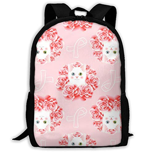Proud Clothing Kitty for The Cure Adult Travel Backpack School Casual Daypack Oxford Outdoor Laptop Bag College Computer Shoulder Bags 16.9x11x6.3 inch