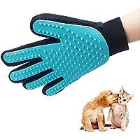 QPAU Guanto Spazzola del guanto di massaggio pettine e Pulizia Elimina peli Morti per Cani e Gatti per Gli Animali Domestici