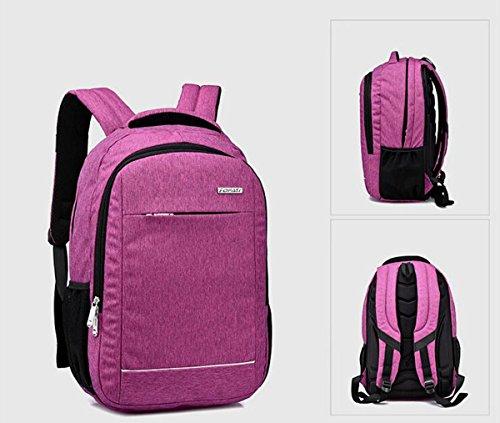 awland Laptop Rucksack Multifunktional Unisex Gepäck & Travel Bags Rucksack Rucksack Rucksack Wandern Taschen Studenten Schule Rucksäcke für bis zu 38,1cm Laptop Macbook Computer schwarz schwarz Violett - violett