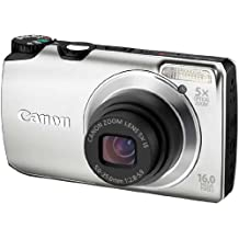 Canon Powershot A3300 IS Fotocamera Digitale, 16.4 MP, Argento