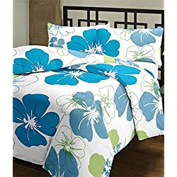 Frabjous Flower Printed Polycotton Double Size Reversible Dohar/AC Blanket/Quilt Diwali Gift for Home
