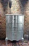 Livitat® Kommode Silber mit 3 Schubladen H75 cm Pomp barock antik pompös Landhaus LV2026