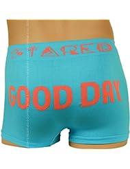 Boxer Fantaisie Homme, Bleu et Orange, Good Day