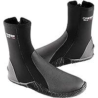 Cressi Boots With Soles Calzari in Neoprene con Suola, 5mm, Nero, M
