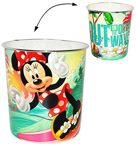 Papierkorb -  Disney Minnie Mouse  - Kunststoff - Mülleimer Eimer - Aufbewahrungsbox für Kinder Mädchen - Abfallbehälter / Abfalleimer Kinderzimmer - Maus /..