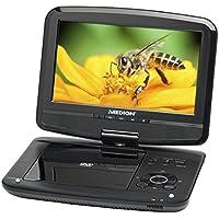 MEDION® LIFE® P72040 Tragbarer DVD-Player (22,8cm (9 Zoll)), SD-Kartenslot, USB-Anschluss, schwarz