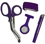 Nurses Watch, Tourniquet, Torch & Tough Cut Shears (Purple)