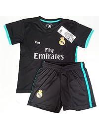 Segunda Equipación Infantil Réplica Oficial del Real Madrid Temporada  17 18 6ed33adf1a43c