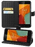 Gadget Giant Case for Vodafone Smart First 7, Carbon Fiber