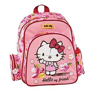 51NbKoH6gXL. SS300  - Graffiti Hello Kitty Mochila Escolar, 30 cm, Rosa (Pink)