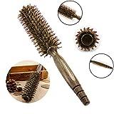 Runde Borste Haarbürste, leegoal natürliche Wildschwein Borsten Pinsel Haarkamm mit Nano thermische Ceramic Ionic Tech für Blow trocknen, Curling, Aufrichtung, Hinzufügen von Haarvolumen und Glanz