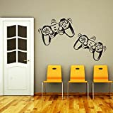 Wall Decals Game Controllers Gamer Gamepad Joystick Gaming Video Game Kids Children Nursery Boys Room Bathroom Vinyl Sticker Wall Decor Murals Wall Decal