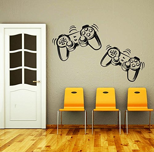 Wall Decals Game Controllers Gamer Gamepad Joystick Gaming Video Game Kids Children...