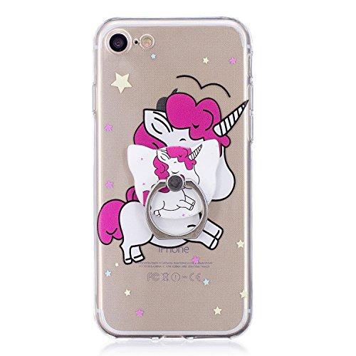 iPhone 7/iPhone 8 4.7 Hülle, Voguecase Silikon Schutzhülle / Case / Cover / Hülle / TPU Gel Skin Handyhülle Premium Kratzfest TPU Durchsichtige Schutzhülle für Apple iPhone 7/iPhone 8 4.7(Stützen-Unic Stützen-Unicorn 11