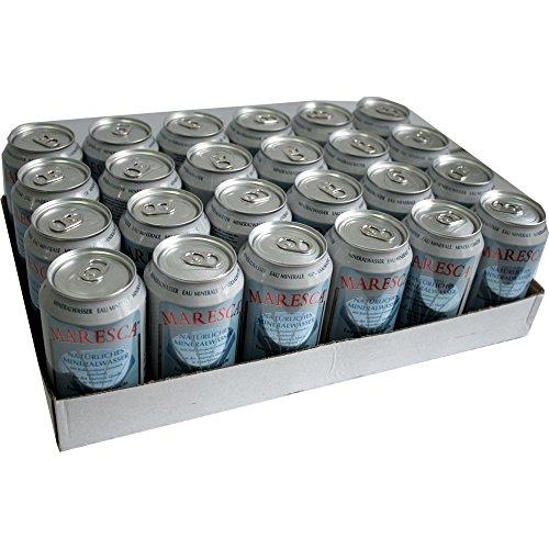 Maresca Mineral Water 24 x 0,33l Dose (Natürliches Mineralwasser mit Kohlensäure) - Natürliches Mineralwasser